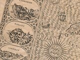 Detail from an old map of Wales