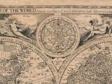 Detail from an old map of the World