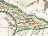 Old Cuba Map detail