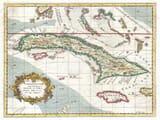 Old Cuba Map