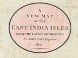 antique east india map title