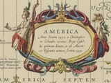 Detail from Old Map of America