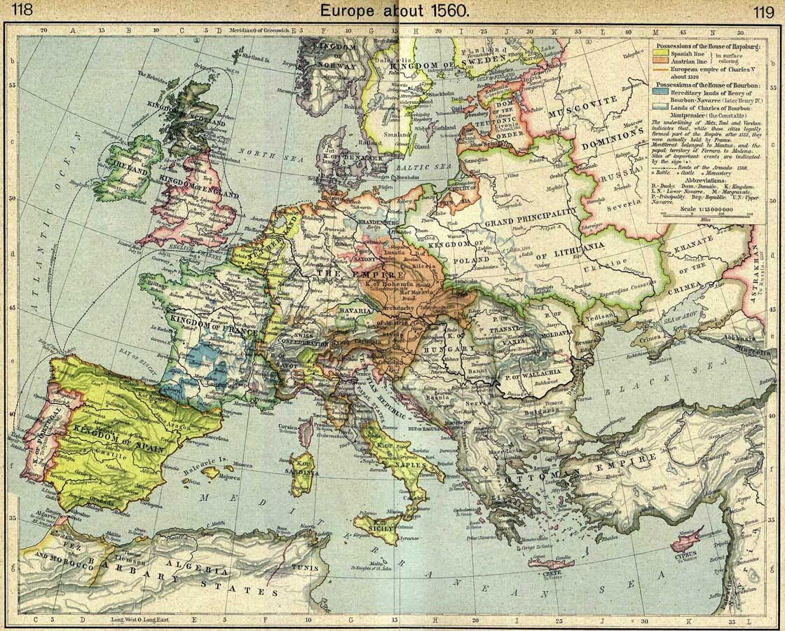 Europe in 1650