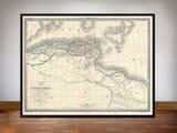 FRAMED MAP OF MAURITANIA
