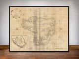 framed map of morroco