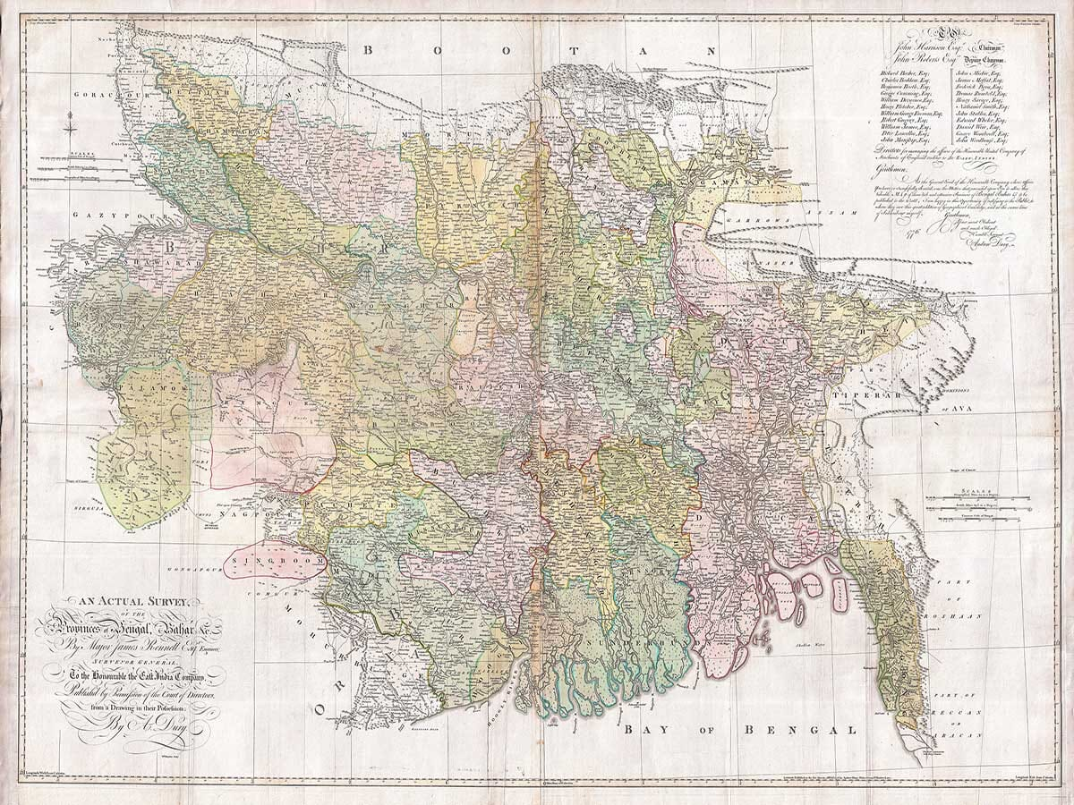 Old Map of Bangaladesh