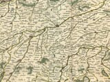 Detail from an old map of Bavaria