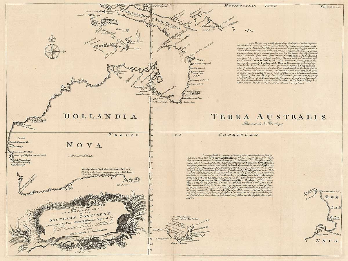 Ancient Australia Map
