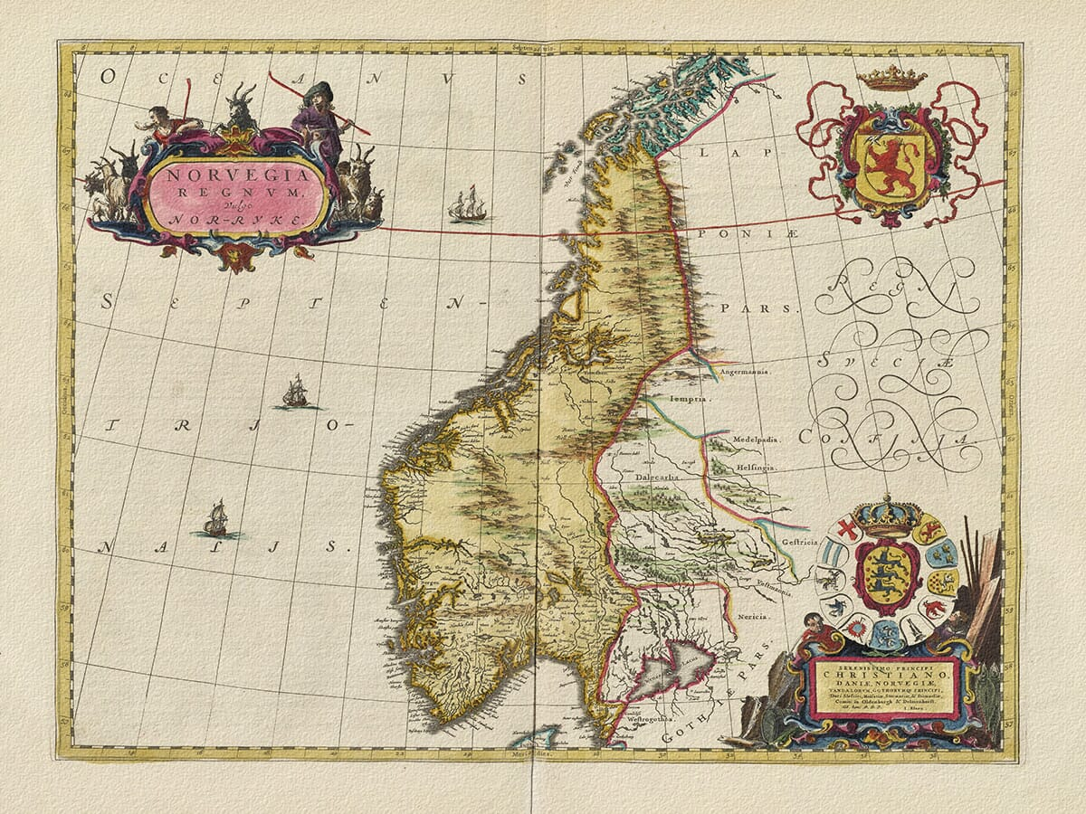 Old Map of Norway