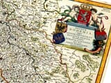 Detail from an Old Map of Bohemia and Czech-Republic