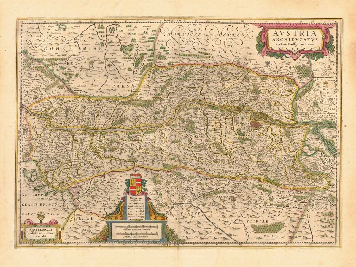 Old Map of Austria