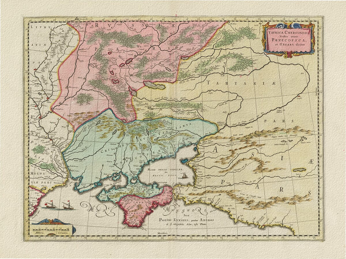 Old Map of Crimea