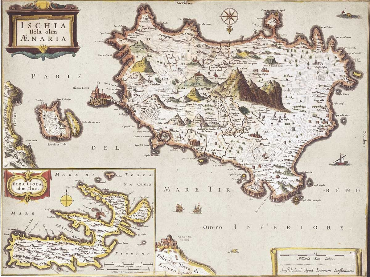 Old map of Ischia