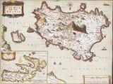 Old map of Ischia