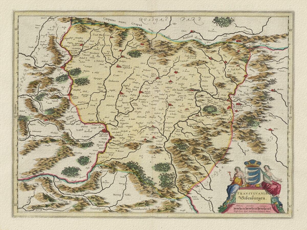 Old Map Transylvania
