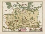 Old Map of Southern Poland