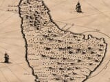Old Map Jamaica & Barbados Detail