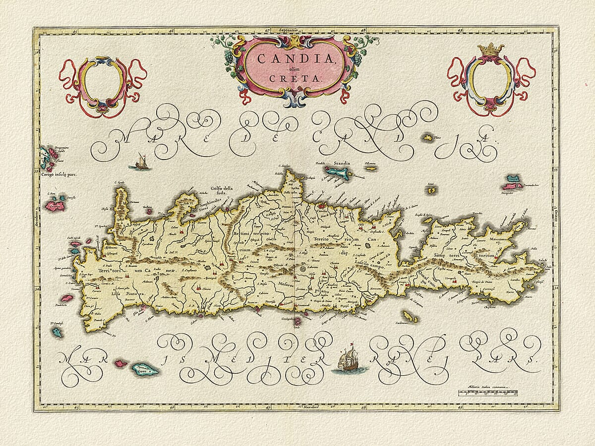 Old Map of Crete