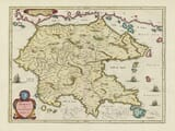 Old map of the Peloponnese