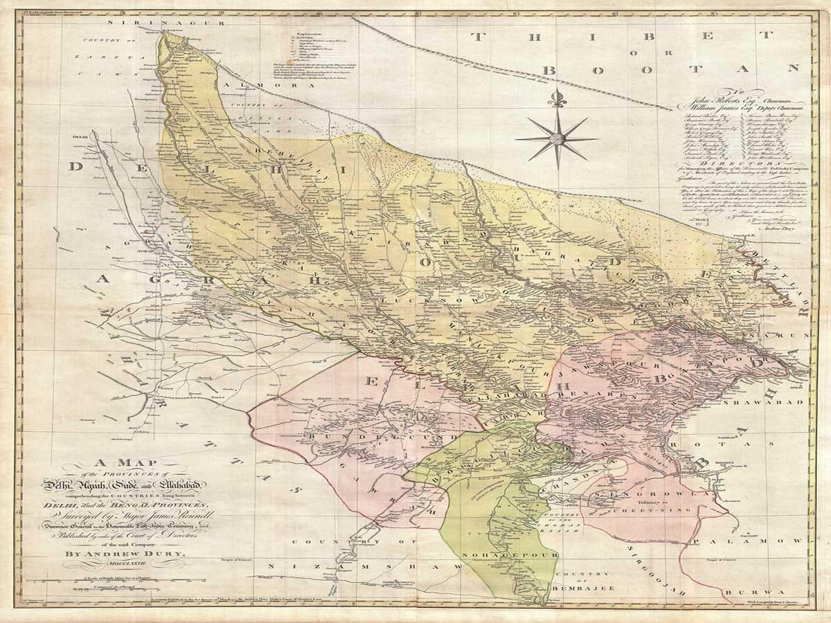 Old Map of Delhi