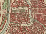 Detail from an old town plan of Moscow