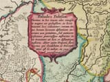 Detail from old map of Lithuania