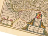 Detail from an old map of Austria