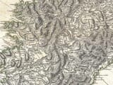 Detail from an Old Map of Corsica