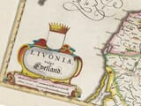 Detail from an old map of Estonia