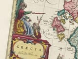 Detail from an old map of Greece