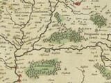 Detail from an old map of Hungary