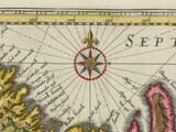 Detail from an old map of Iceland