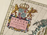 Detail from an old Map of Sweden