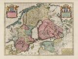 Old Map of Sweden