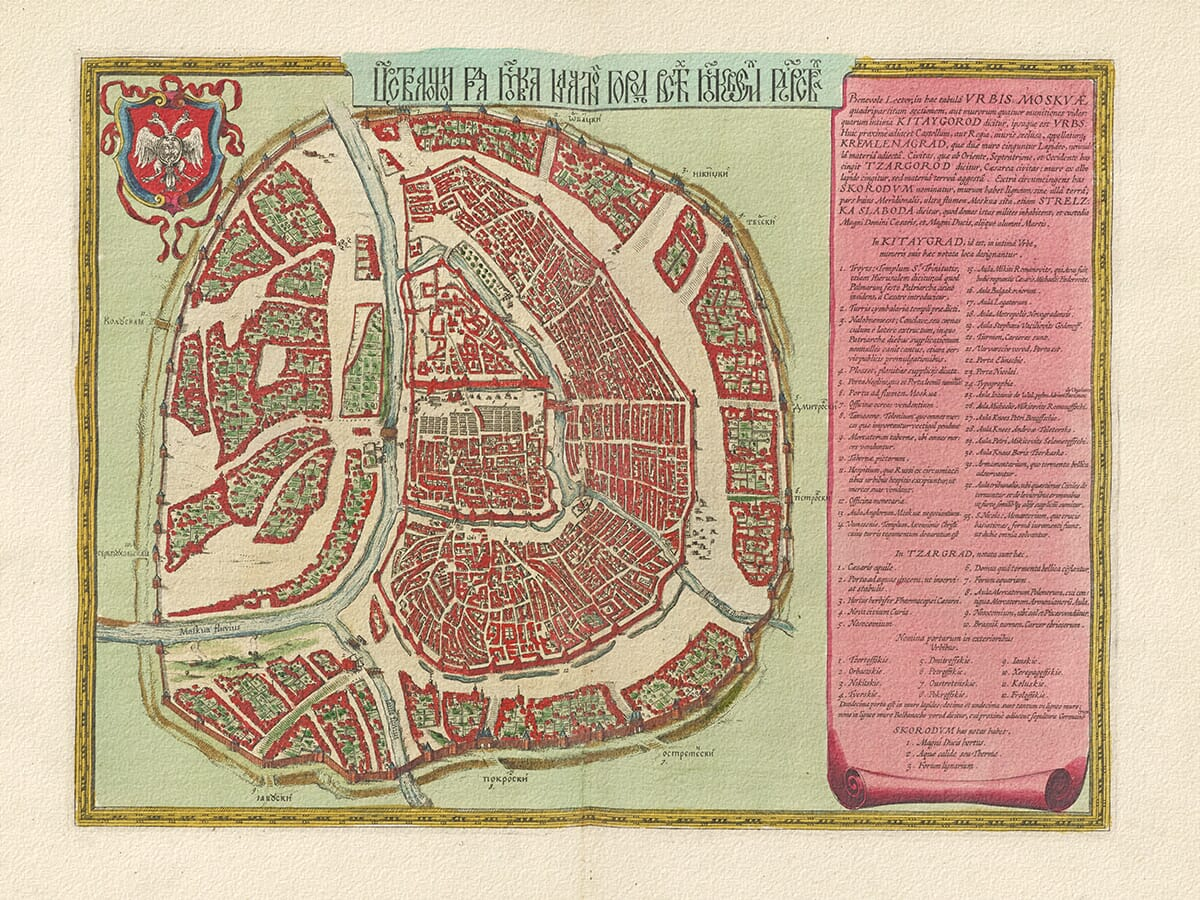 Old Town Plan of Moscow