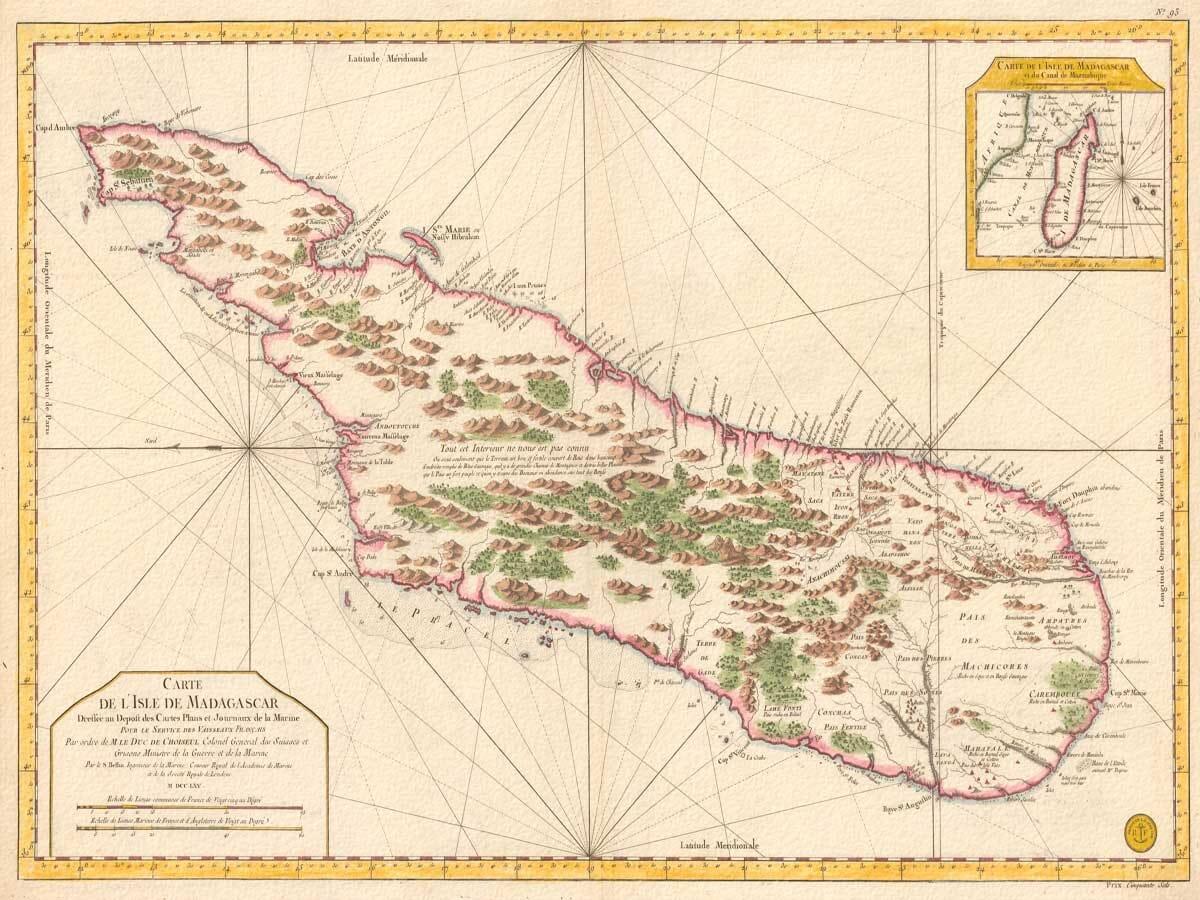 old map madagascar