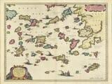 Old Map of Greek Islands