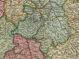 Detail from an old map of Germany
