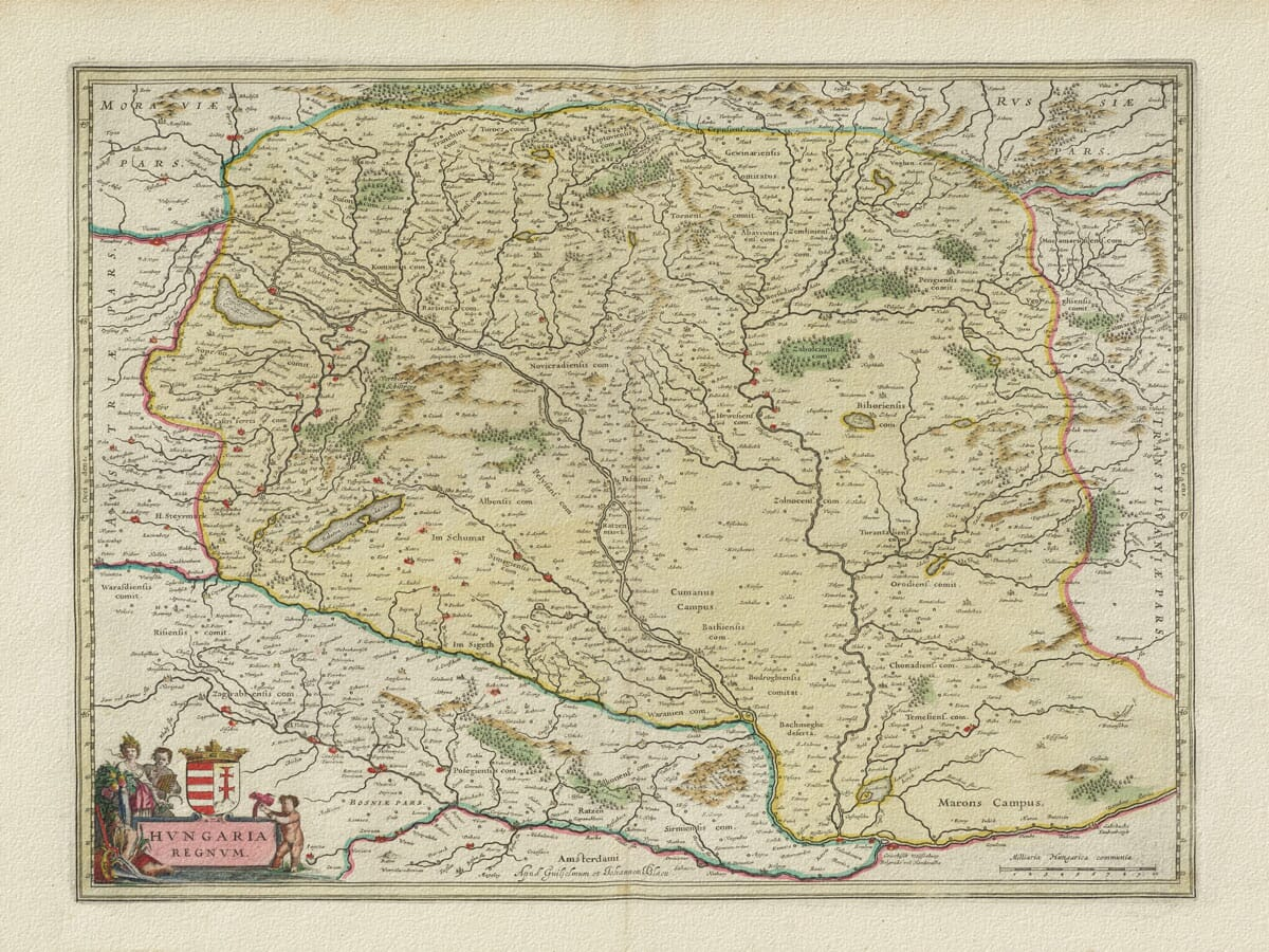 Old Map of Hungary