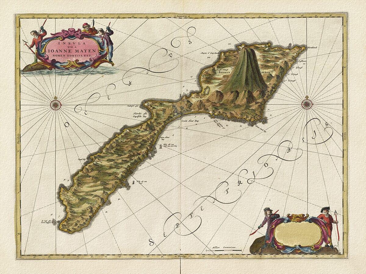 volcanic island map