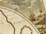 Old Map North Pole in detail