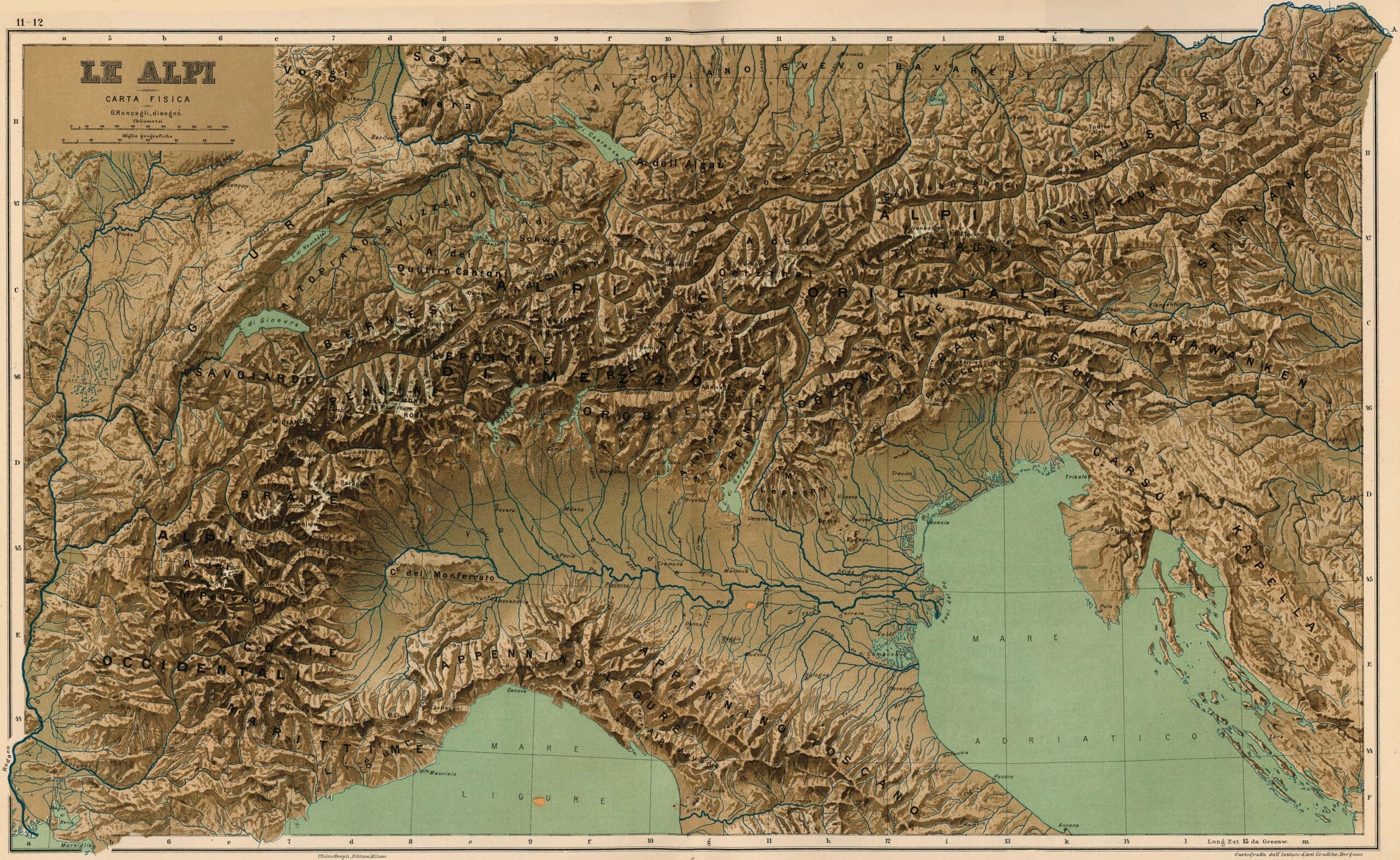 The Alps 3d Map