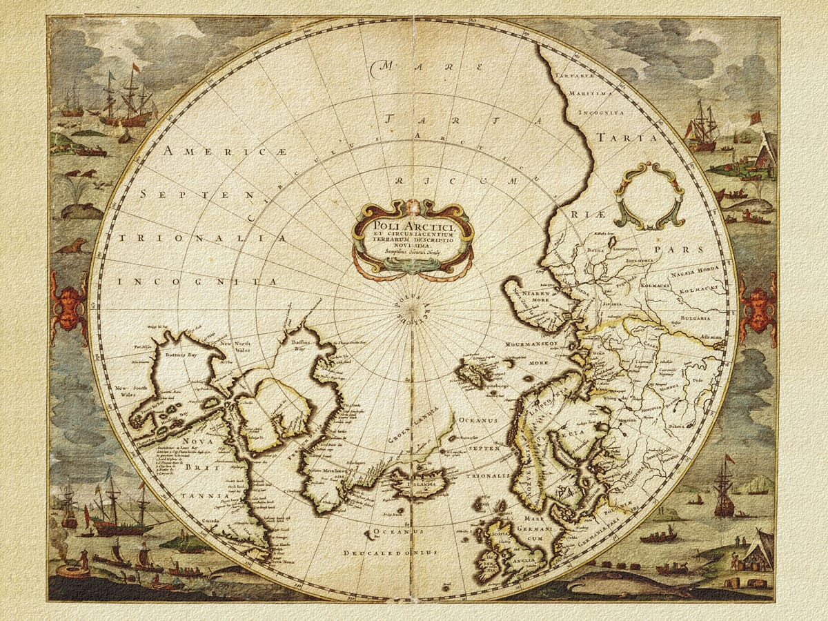 The North Pole Old Map