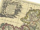 Antique Map Ireland Detail