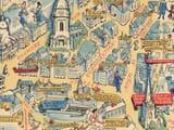 Birmingham Pictorial Map Detail