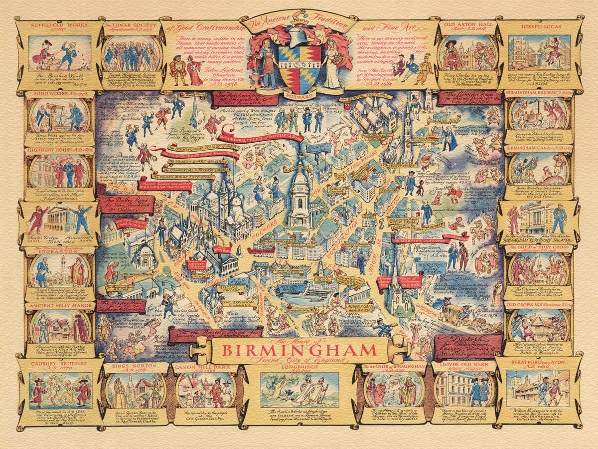 Birmingham Pictorial Map