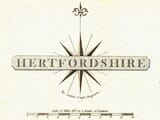 Cary Hertfordshire Map Titlepiece