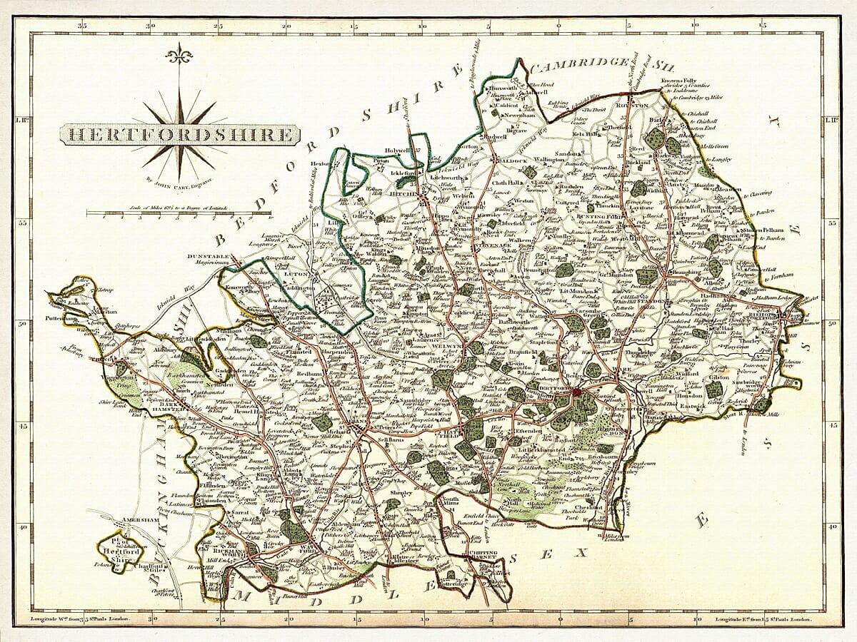 Hertfordshire John Cary