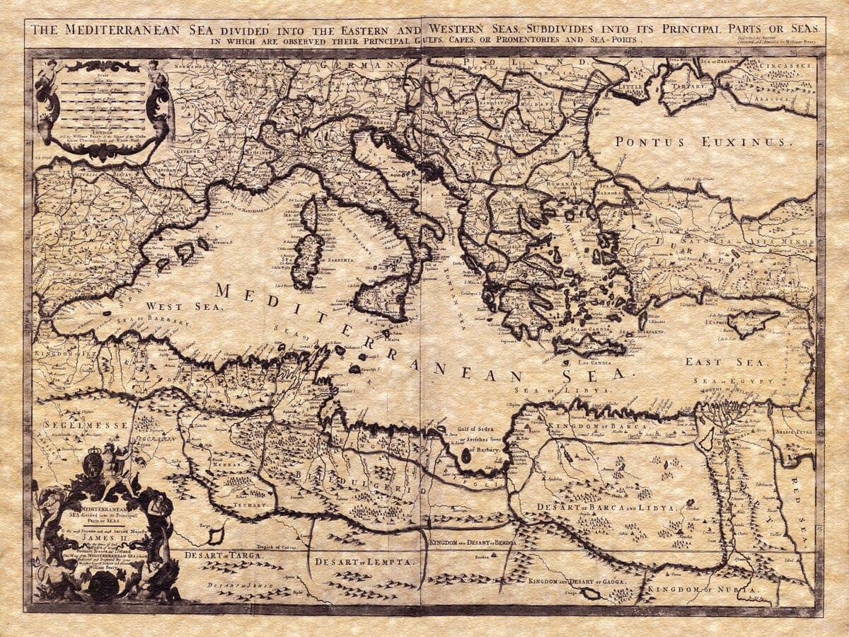 Meditteranean Map