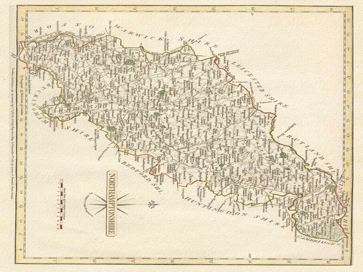 Northampton Carey Map